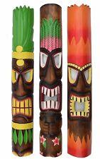 3 Wall Masks 100cm Tiki Hawaii Wall Mask Wooden Mask Mask Masks Maui Kauai Style