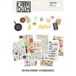 Simple Stories Carpe Diem Recipe Collection A5 Planner Inserts-sticker tablet