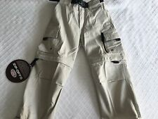 New With Tags Plugg Jeans Boys Size 4/S Stone Tan Zip-Offs Pants to Shorts