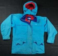 Rare Vintage THE NORTH FACE Spell Out Gore-Tex Mountain Jacket 90s Blue Womens L