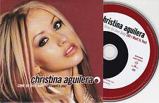 CD CARTONNE CARDSLEEVE 2T CHRISTINA AGUILERA COME ON OVER BABY DE 2000
