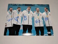 2018 USA CURLING GOLD MEDAL TEAM signed autographed 11x14 PHOTO BECKETT LOA