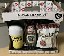 Dog Plush Toy Treat Gift Set Beer Glass Nuts Prime Rib Popcorn Pet Lovers New