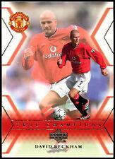 David Beckham Manchester United #106 Upper Deck 2001 Football Trade Card (C361)