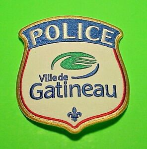 """VILLE DE GATINEAU  QUEBEC  CANADA  POLICE PATCH  4""""  FREE SHIPPING!"""