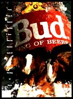 1992 BUDWEISER BEER AD Clydesdale Clydesdales Horse Art Illustration