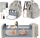 Baby Diaper Bag Backpack with Changing Station Aihonika for Foldable Travel Baby