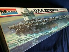 "USS ENTERPRISE CARRIER MODEL 33"" Monogram #3700 1/400 RARE NOS FREE USA SHIPPING"