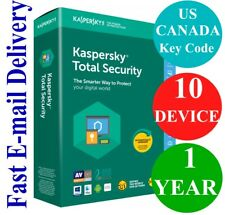Kaspersky Total Security 10 Device / 1 Year (US & CANADA Key Code) 2020