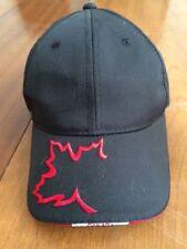 Baseball Hat Ajustable Back Strap Cap Canada Maple Leaf Embroidered Brim