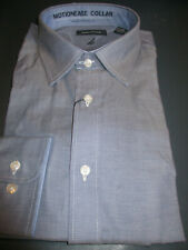 NWT $65 NAUTICA CLASSIC FIT STRETCH SPREAD COLLAR DRESS SHIRT NAVY 17.5 34/35
