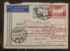 1932 Batavia Netherlands Indies Airmail Cover to London England