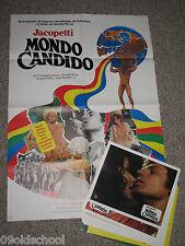 MONDO CANDIDO - 20 AUSHANGFOTOS + PLAKAT A1- sexy erotic Jacopetti Blutiges Märc