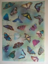 NEW LAKELAND Craft Vellum Paper Butterflies - 6 Sheets Blue Pink Green A4 sheets