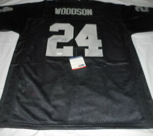 Charles Woodson Raiders Signed Jersey Autographed in Sharpie + COA