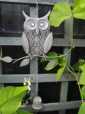 GREY  OWL WIND CHIME-RUSTIC- GARDEN/ HOME DECORATION