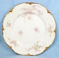Apple Blossom Luncheon Plate Warwick China Pink Lavender Flowers Gold Daubs