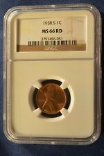 1938S Lincoln Cent Ngc Ms66 red