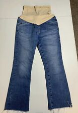 AG Adriano Goldschmied maternity crop flare jeans sz 26