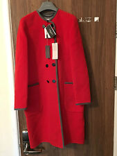 L.K. BENNETT SERENO CARDINAL RED WOOL COAT SIZE S RRP £425 SOLD OUT!!