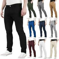 Mens Chino Jeans Regular Fit Cotton Stretch Trousers Pants Waist All Sizes 32-40