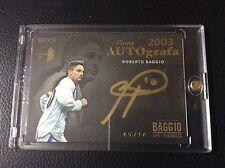2016 Epoch Life of Fantasista Roberto Baggio 5/18 Gold Ink Auto Autograph Italy