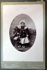 Photo Ancienne CDV Début XXe Portrait Fillette Tenue d'Hiver P. Batier Limoges