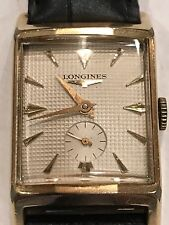 Unique Vintage LONGINESMens Dress Watch, 10K Gold Filled Guilloche dial