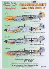Lifelike Decals 1/48 MESSERSCHMITT Me-109 Fighter Part 5