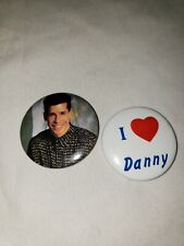 New Kids On The Block Pin small Buttons set of 2 I love heart Danny Wood