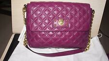 "MARC JACOBS "" THE XL SINGLE "" PURPLE GOLD CHAIN SHOULDER BAG $900 NWT 12x8.5x4.5"