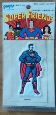 SUPERMAN vintage 1973 autocollant sticker DC COMICS INC Made in USA