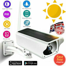 Wireless Solar Outdoor WiFi Camera 1080P HD Surveillance CCTV + 32GB + BATTERY