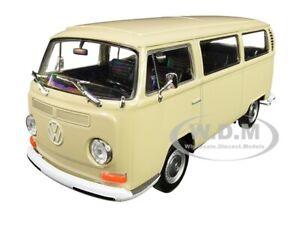 1972 VOLKSWAGEN T2 BUS VAN CREAM 1/24 DIECAST MODEL BY WELLY 22472