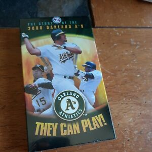 2000 Oakland Athletics & VHS Story Of 2000 A's They play SEALED NEW
