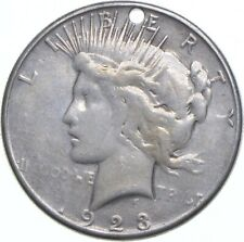 Early - 1923-S Peace Silver Dollar - Holed - 90% US Coin *579