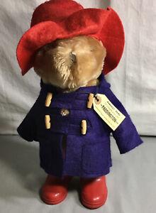 "Vintage Paddington Bear Plush Red Rain Boots Darkest Peru To London England 14"""
