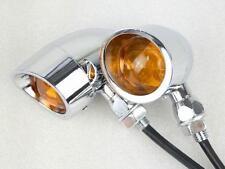 Motorcycle Chrome TURN SIGNAL AMBER LIGHT for Honda Yamaha Suzuki Kawasaki