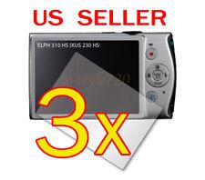 3x Canon ELPH 310 HS / IXUS 230 HS Digital Camera LCD Screen Protector Guar