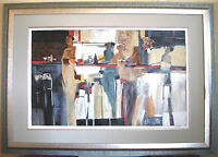 """THE CONVERSATION"" by YURI TREMLER - 40"" x 25"" SERIGRAPH in 54"" x 38"" WOOD FRAME"