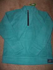 NWT Life is good Ladies Microfleece Classic Patch Pullover zip  Sweatshirt Large