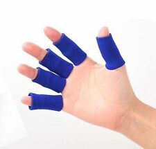 5 Blue Fingers Protector Stretchy Bands Supports Arthritis Sleeves Sports Pads