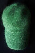 LIU JO CAPPELLO BERRETTA HAT TG.Unica misto LANA angora con visiera colore verde