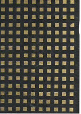 BLACK/GOLD MULBERRY PAPER 5 x A4 SHEETS - PERFECT FOR HANDMADE FLOWERS