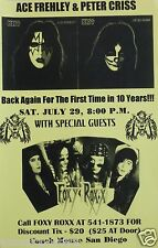 ACE FREHLEY & PETER CRISS / FOXY ROXX 1995 SAN DIEGO CONCERT TOUR POSTER - KISS