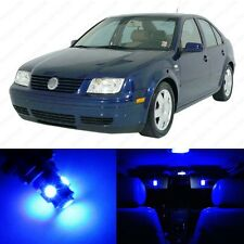 9 x Ultra Blue LED Interior Light Package For 1999 - 2004 VW Jetta MK4