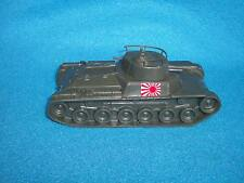 Classic Toy Soldiers WWII new Japanese Chi-Ha tank in green plastic w/Rising Sun