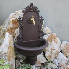Wandbrunnen Braun 75 cm Wandwaschbecken Antik Waschbecken Garten mit Wasserhahn