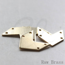 20 Pieces Raw Brass Arrow Charm with 4 Holes - 20x18mm (3788C-D-448)