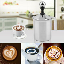 400cc Stainless Steel Milk Frother Double Mesh Foamer DIY Fancy Coffe Cream FT